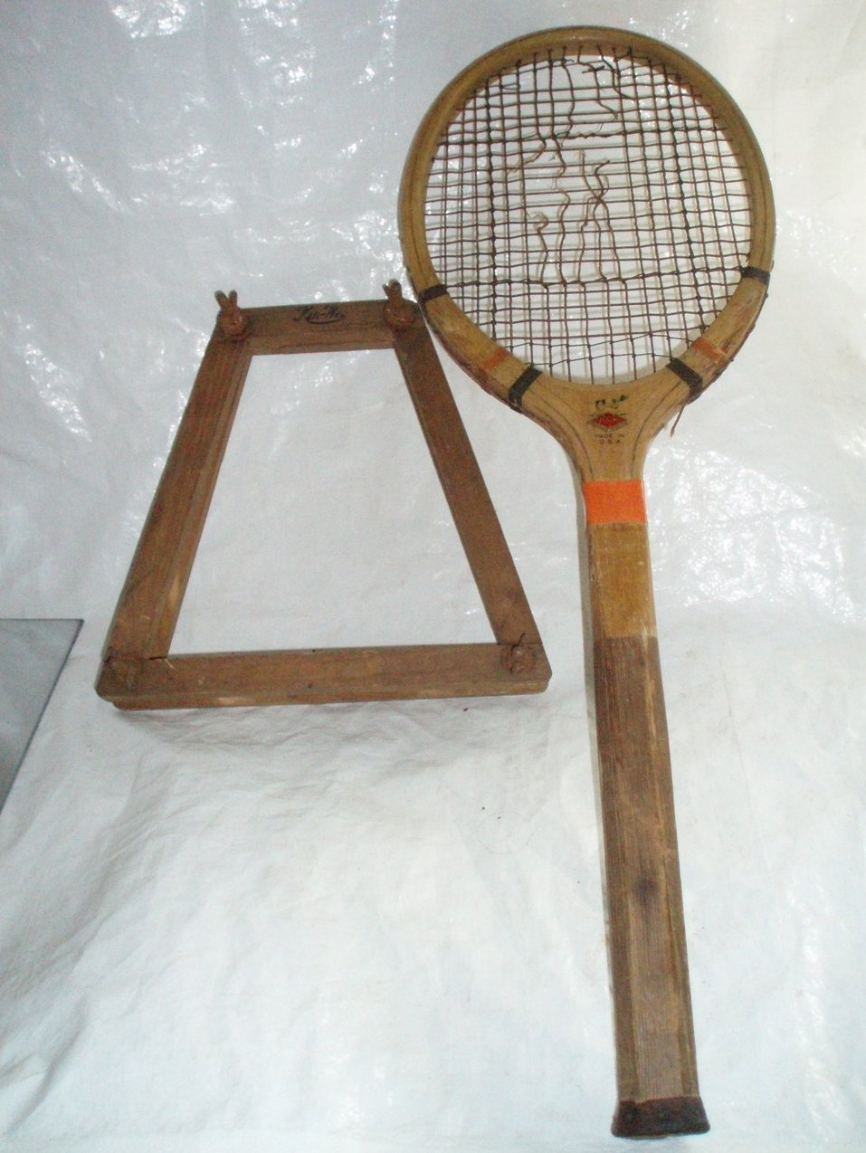 Draper Maynard Antique Regent Tennis Racquet and Head Frame.