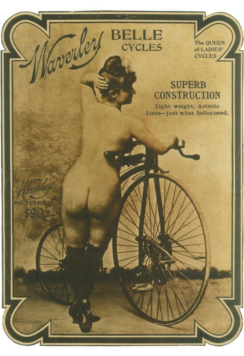 1900's Waverley Belle Cycle Bicycle Velocipede Poster