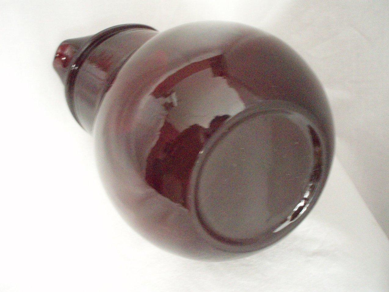 Image 5 of Anchor Hocking Royal Ruby Red 42 oz tilt Pitcher & 8 Juice tumblers vintage