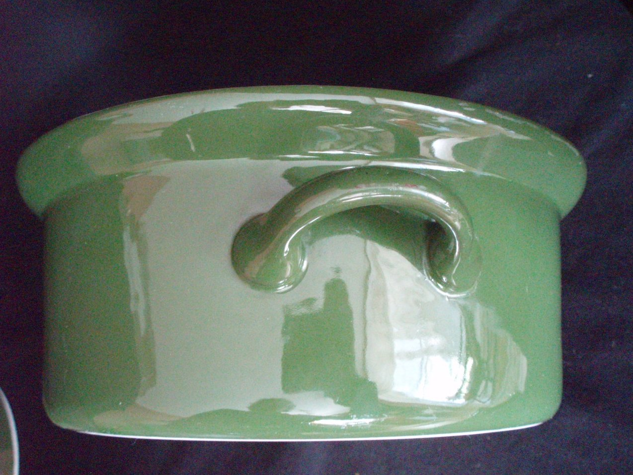 Image 2 of Hall Pottery China Forest Green Lidded Casseroles 1 Qt. and 1 Pt.