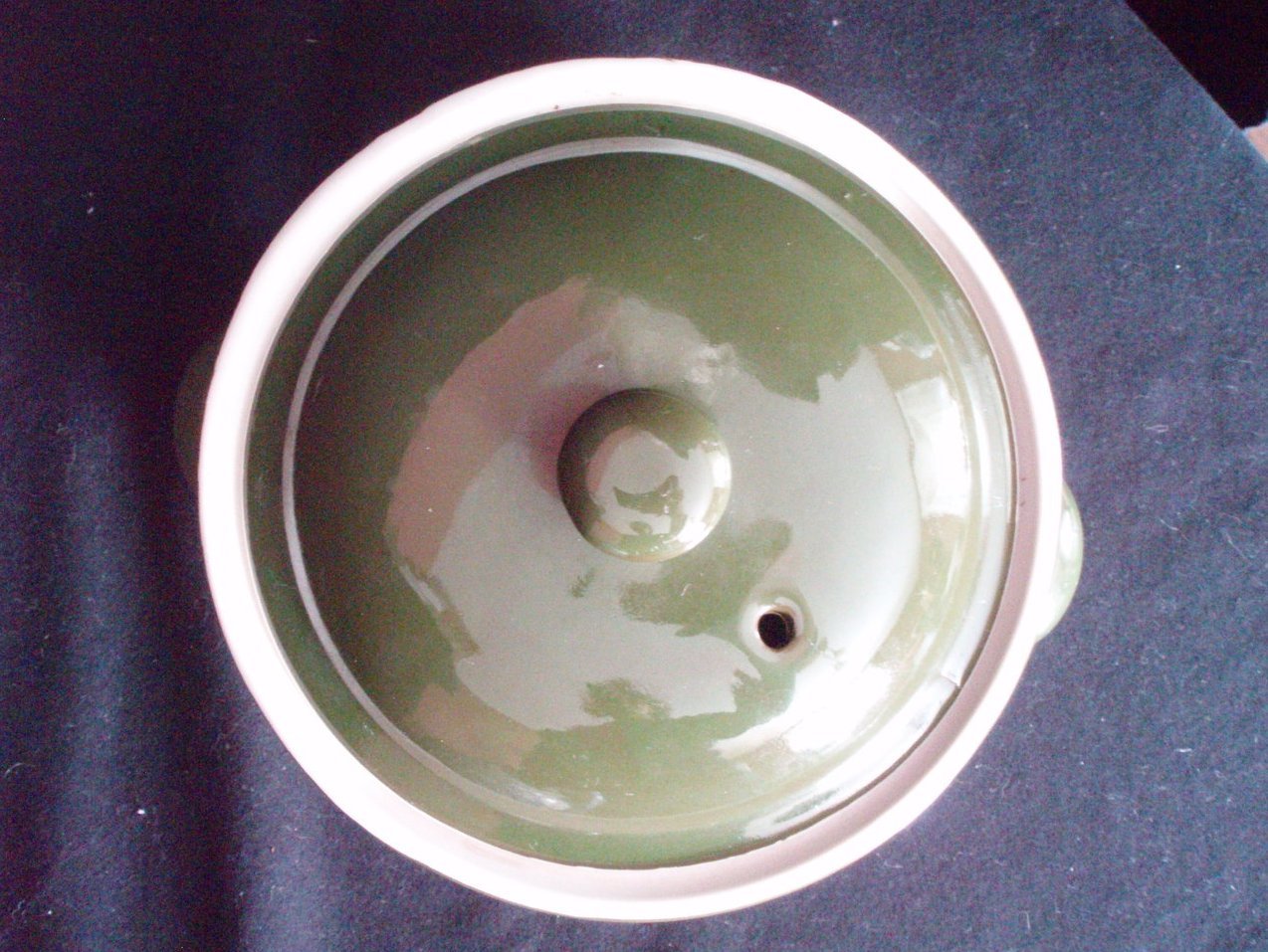 Image 3 of Hall Pottery China Forest Green Lidded Casseroles 1 Qt. and 1 Pt.
