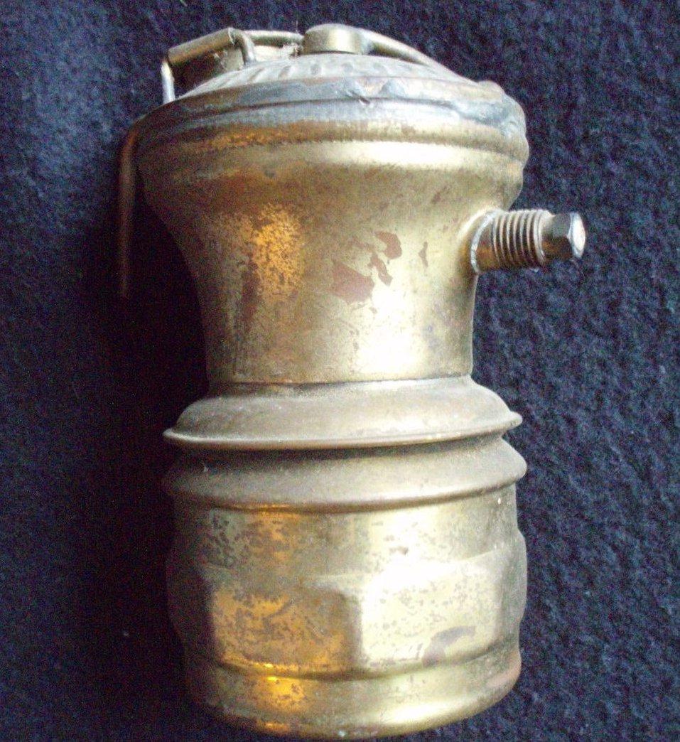 Vintage Brass Auto Lite Universal Miner's Lamp