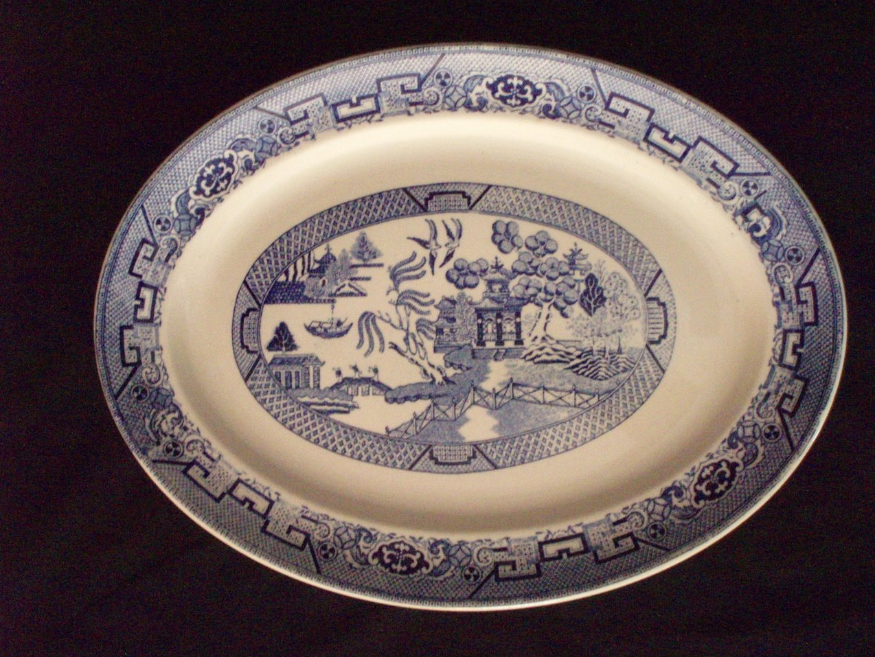 Vintage Homer Laughlin Blue Willow Platter 15.75 x 11.5
