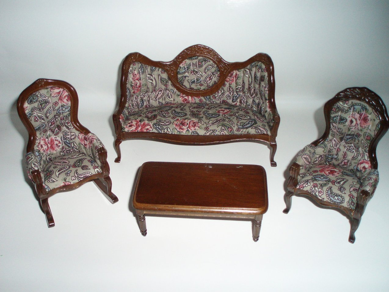 Dollhouse Victorian Living room Set Parlor