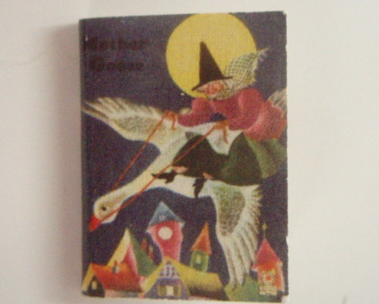 Dollhouse Miniature Book Mother Goose readable
