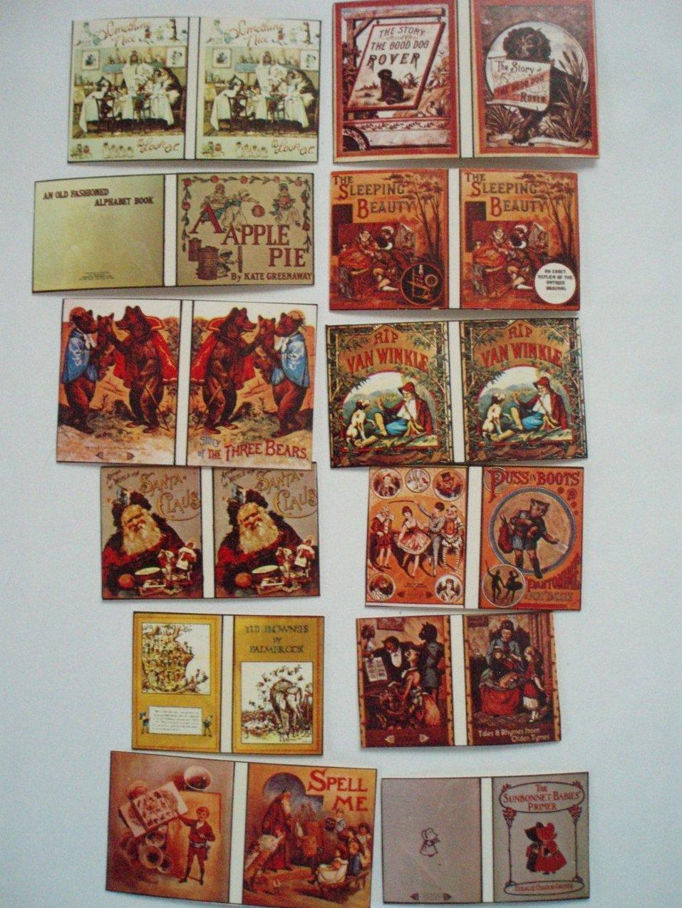 12 Dollhouse miniature Children's Books