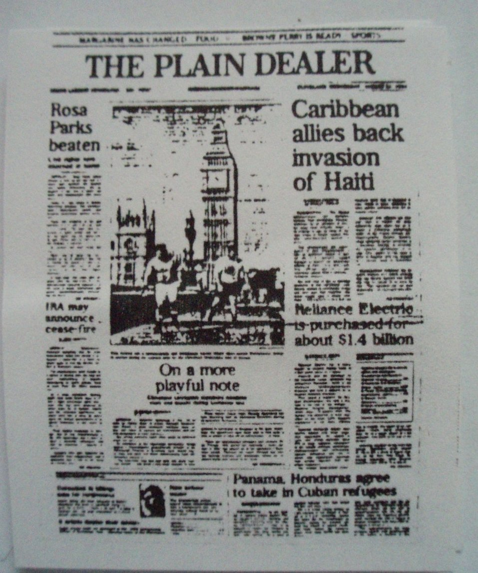 Dollhouse Miniature Newspapers 5 per bundle
