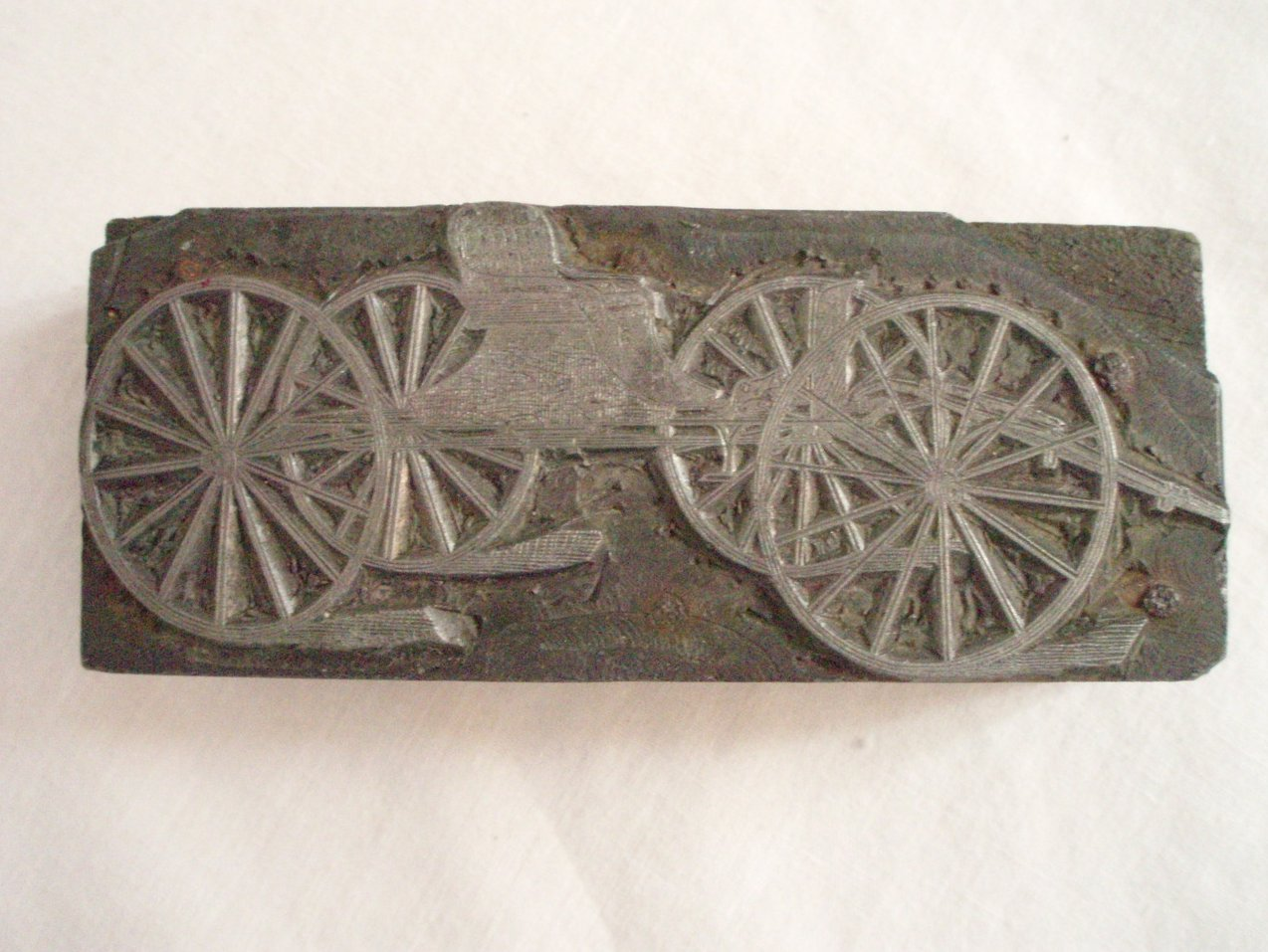 Antique Printer advertising Block Carriage Surrey