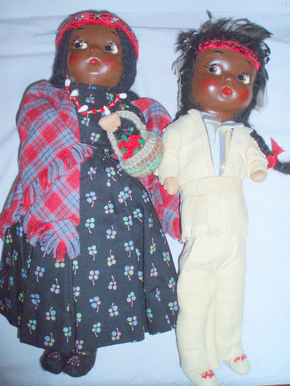 1940 Native American Dolls  Handmade