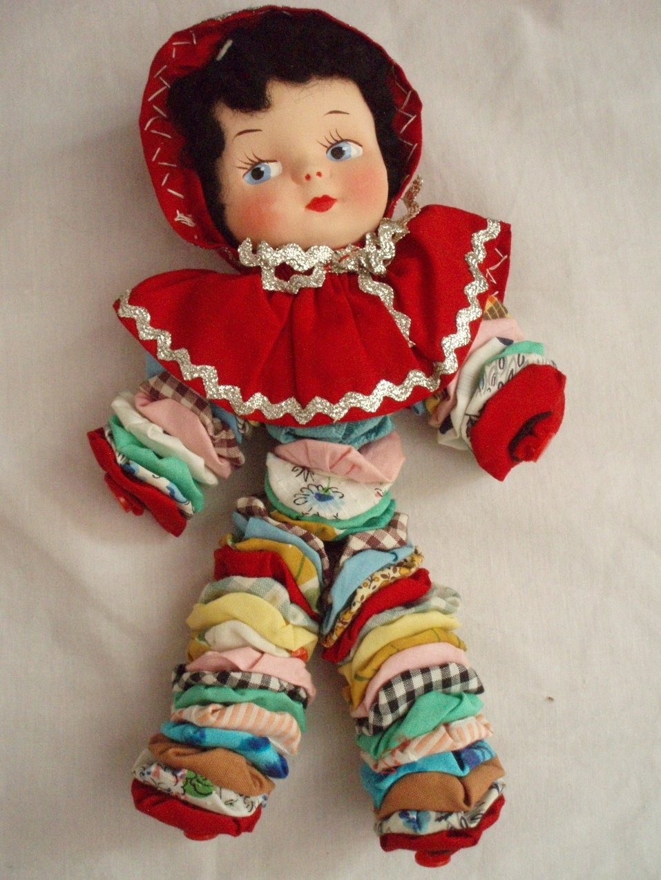 1940 Yo Yo Doll with Paper Mache face