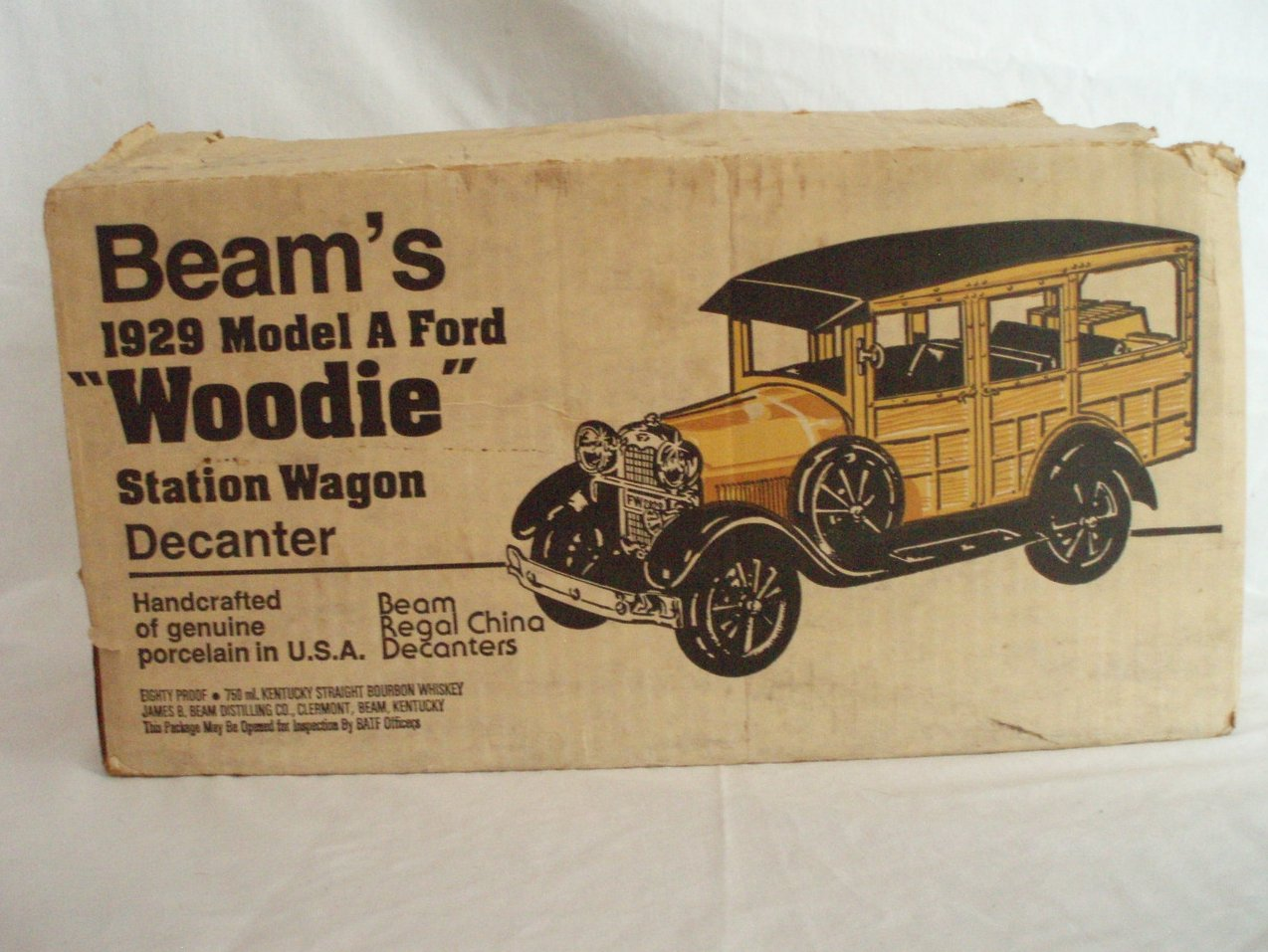 Image 2 of Beam Whiskey Decanter 1929 Ford Woodie Wagon W/Box and Papers