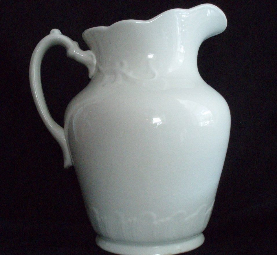 Image 0 of Antique Water Ewer Pitcher Anchor Ironstone Pottery