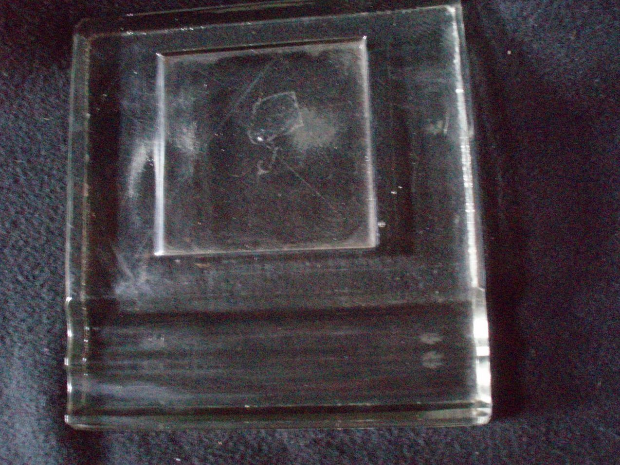 glass inkwell stand holder base Sengbusch
