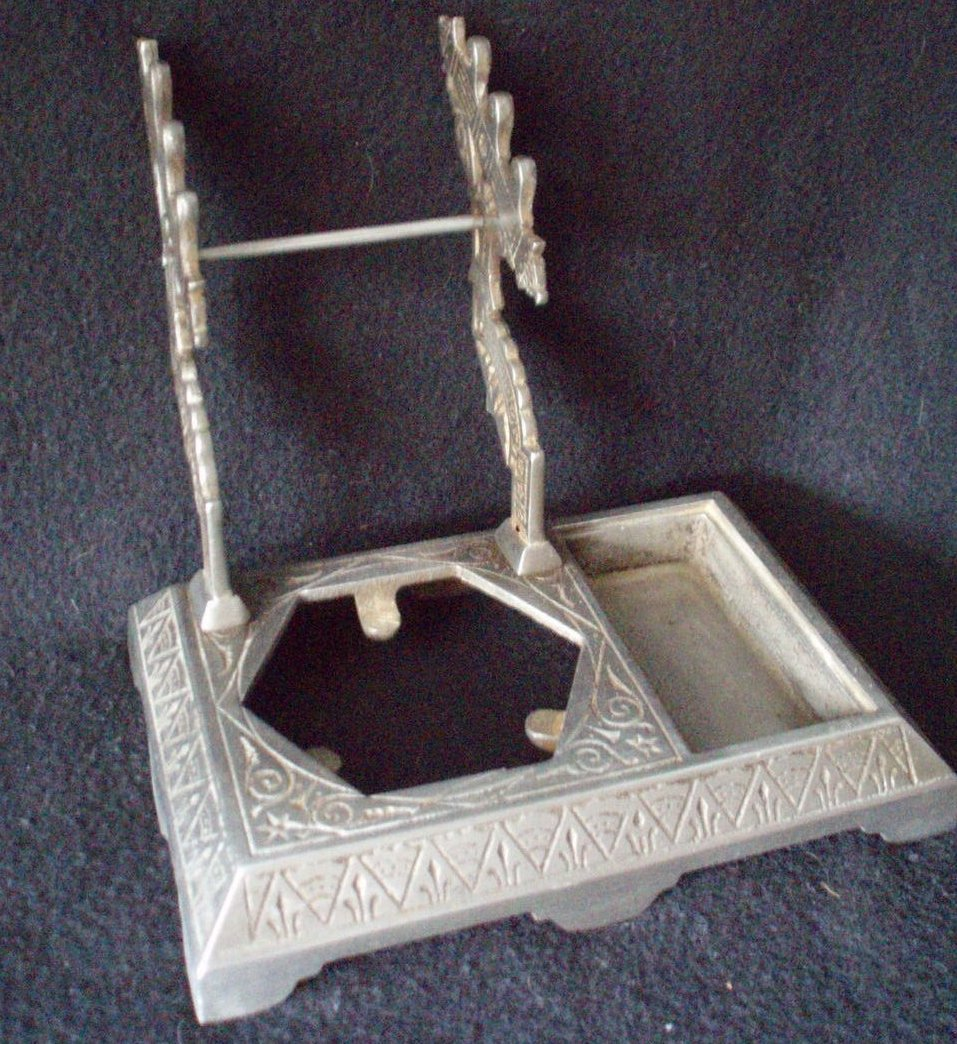 vintage inkwell pen stand  Eastlake desk decor