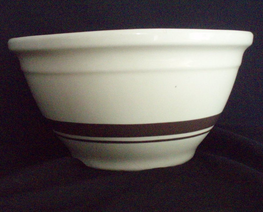Mccoy Mixing Bowl Vintage 10 Inch Brown Bands