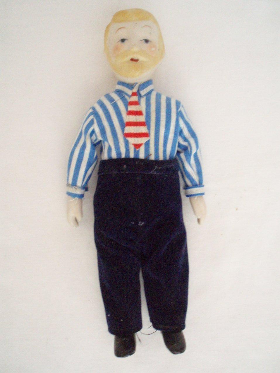 dollhouse miniature people man  Grandfather vintage