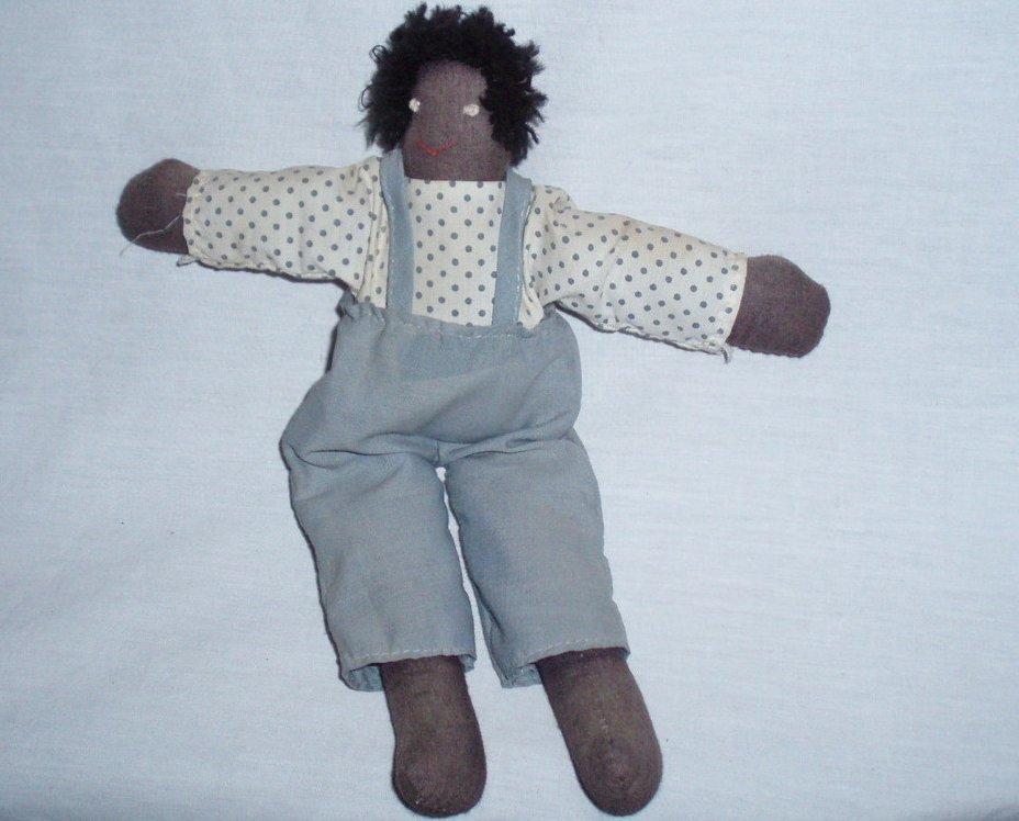 antique black cloth picaninny  doll