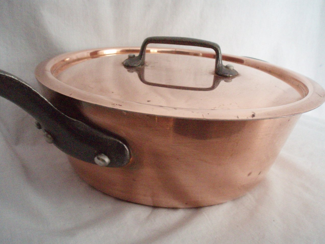 copper pot and lid Eurodib large Vintage cookware