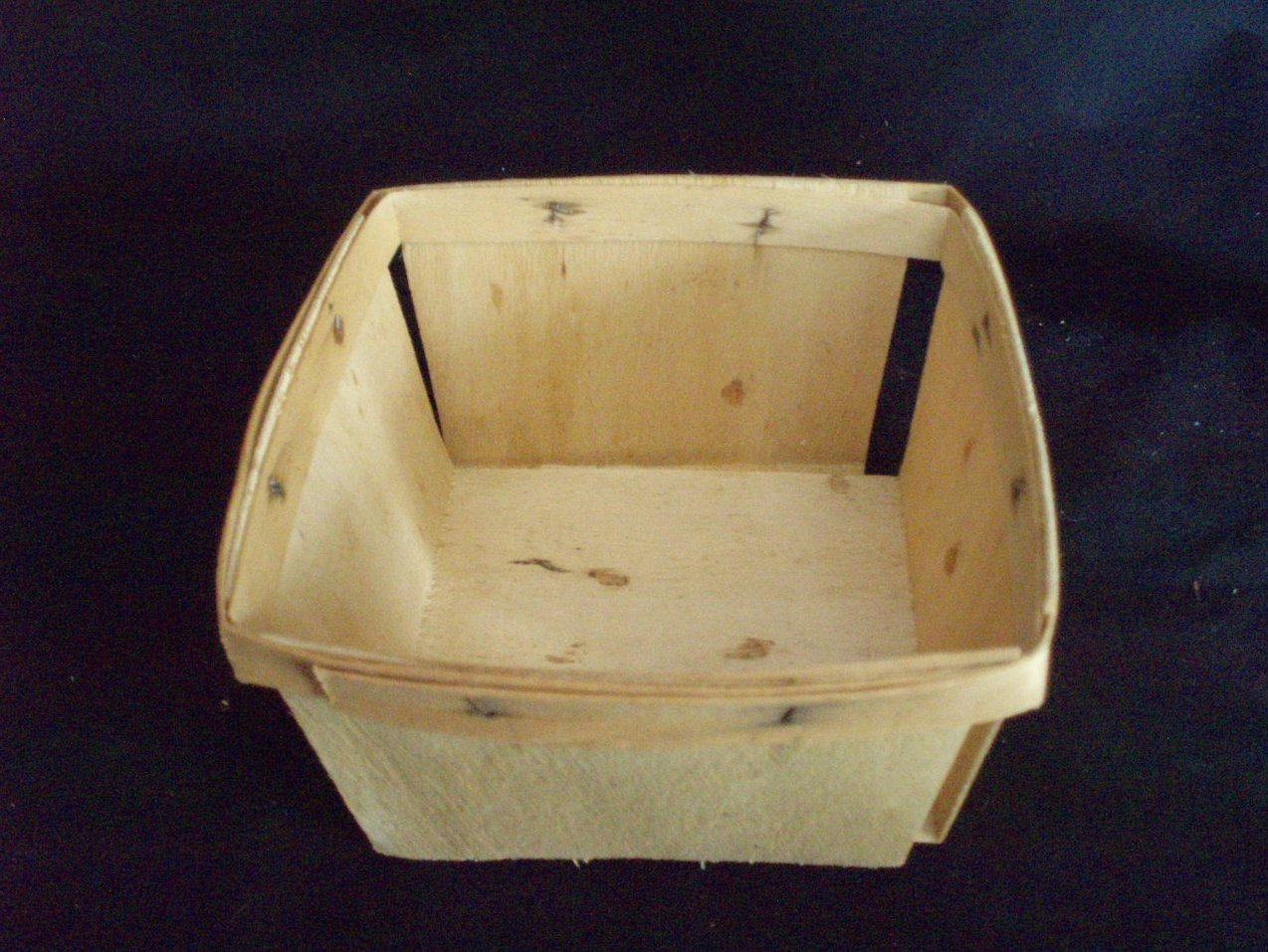12 split wood berry baskets boxes vintage