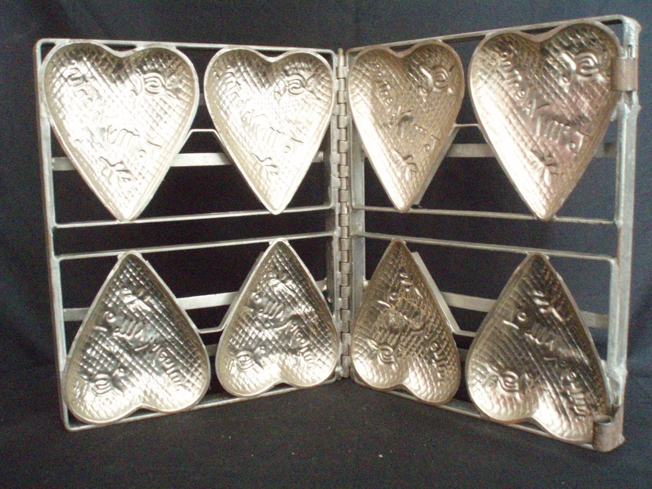 valentine's day chocolate heart mold four candy vintage
