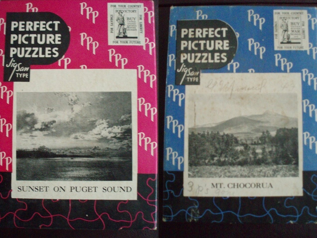 2 vintage Perfect Picture Jigsaws Puzzles
