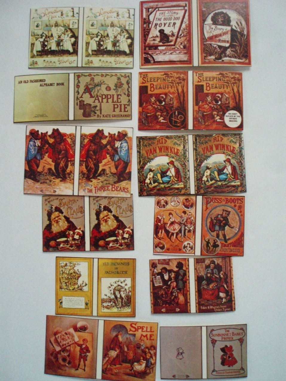 12 Dollhouse miniature Children's Books