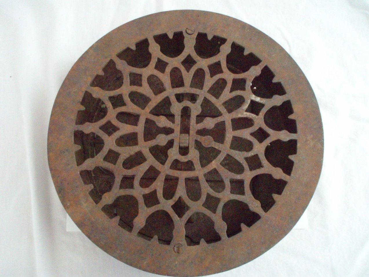 Antique Cast Iron Round Heat Grate