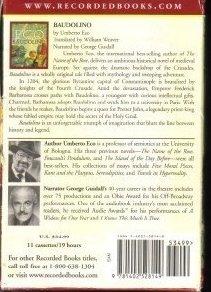 '.Baudolino by Umberto Eco.'