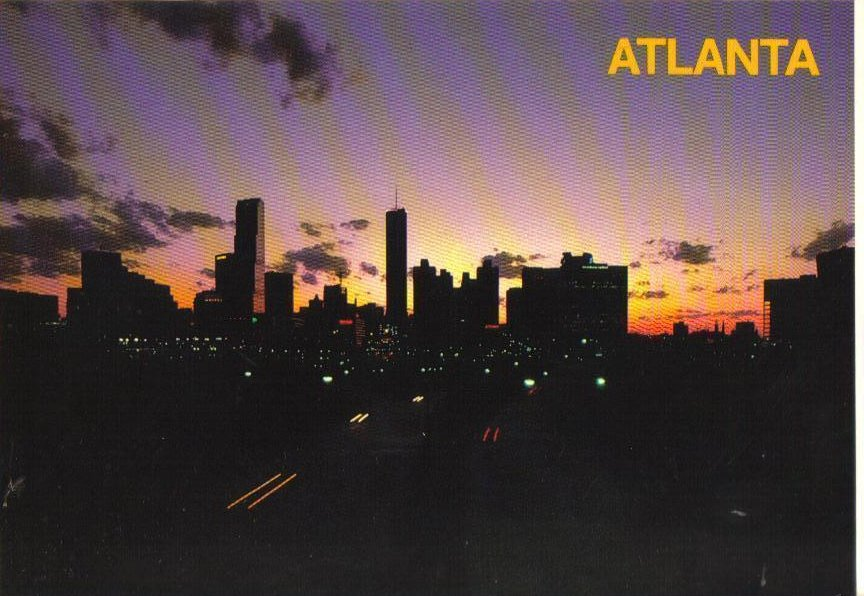Atlanta, Georgia at Dawn Postcard
