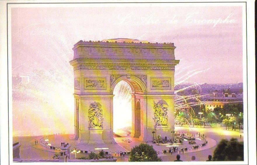 Arch of Triumph, Paris, France Postcard