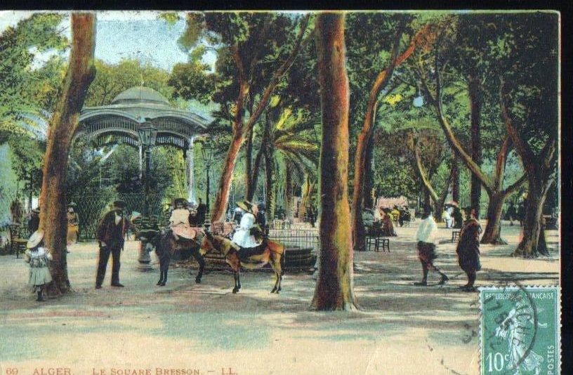Alger Le Square Bresson 1912 Algerian Antique Postcard