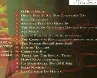Celine Dion These are Special Times Holiday CD OOS