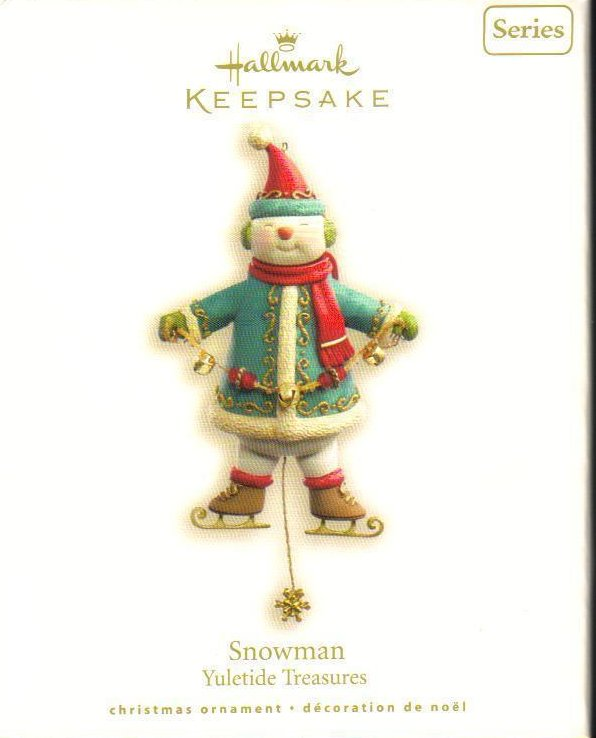 Hallmark Keepsake Ornament Snowman Yuletide Treasures
