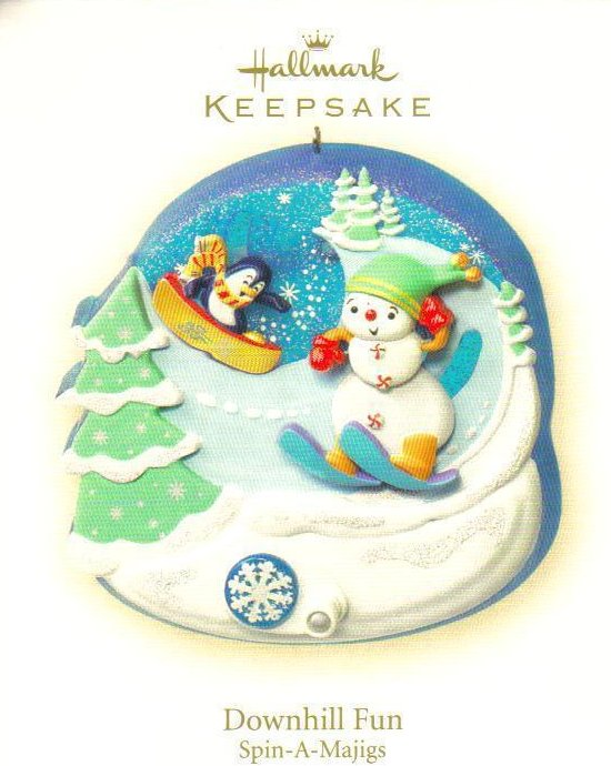 Hallmark Keepsake Ornament Downhill Fun Spin-A-Majigs