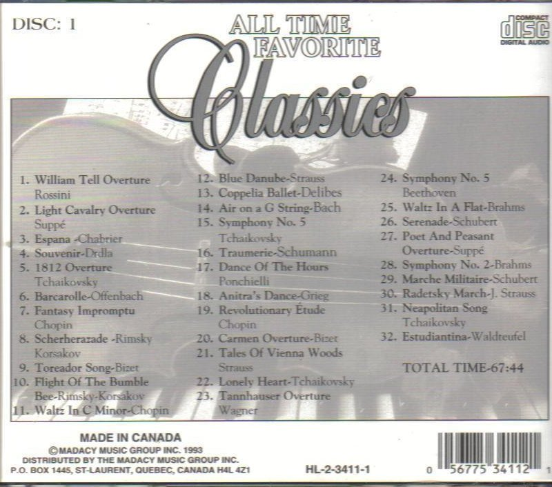 '.100 All Time Favorite Classics.'