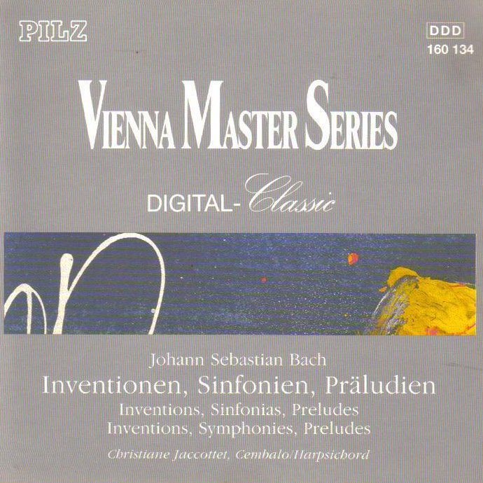 Bach Inventions, Sinfonias, Preludes Vienna Masters Series CD