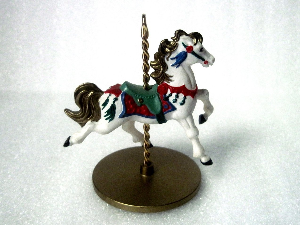 Snow Christmas Carousel Horse Series 1989 Hallmark Ornament
