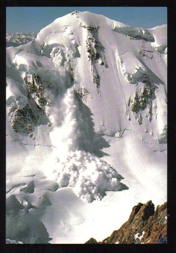 Avalanche Swiss-Italian Alps Weather Phenomenon Postcard