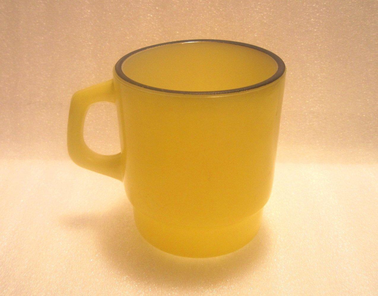 '.Fire King Coffee Mug Yellow .'