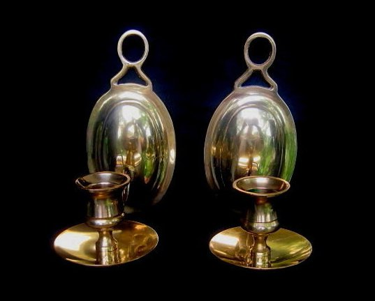 Colonial Style Brass Wall Sconce Yield House Set of 2