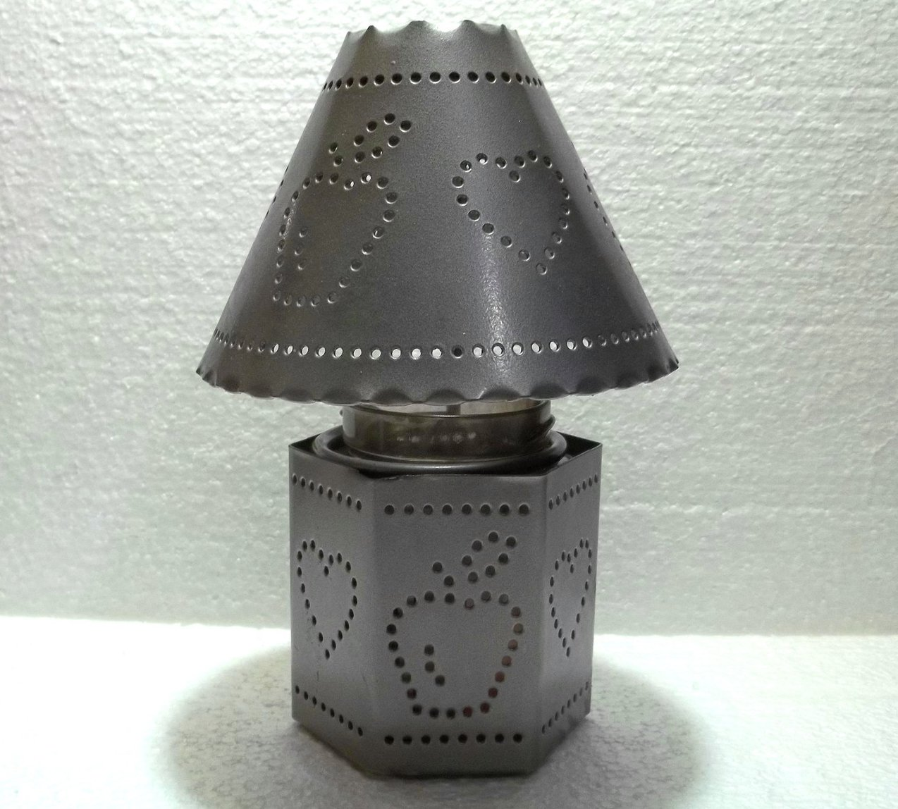 Home Interiors Pierced Tin Candle Holder And Shade 11184