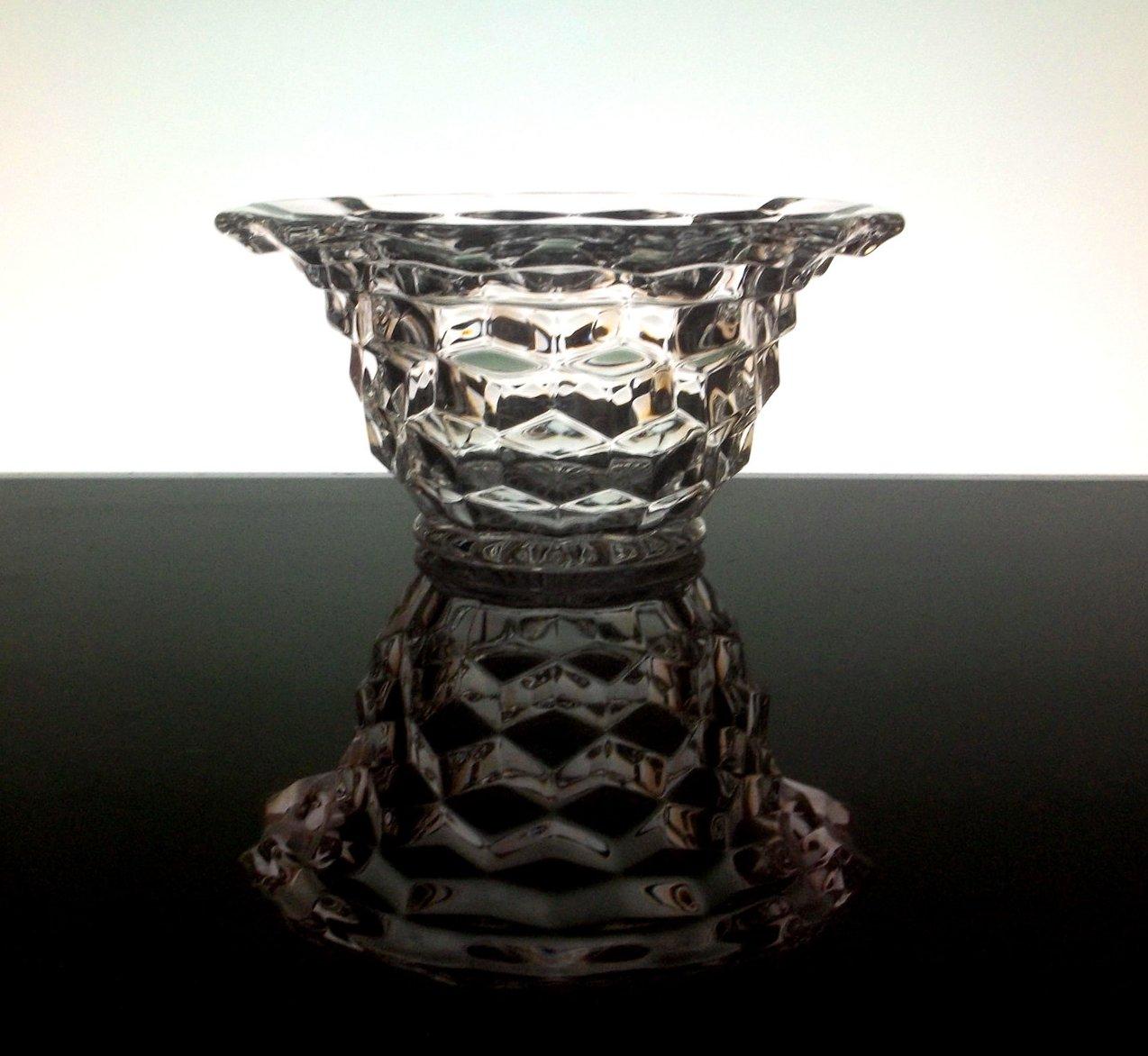 Fancy Bowl Clear Elegant Fostoria Crystal