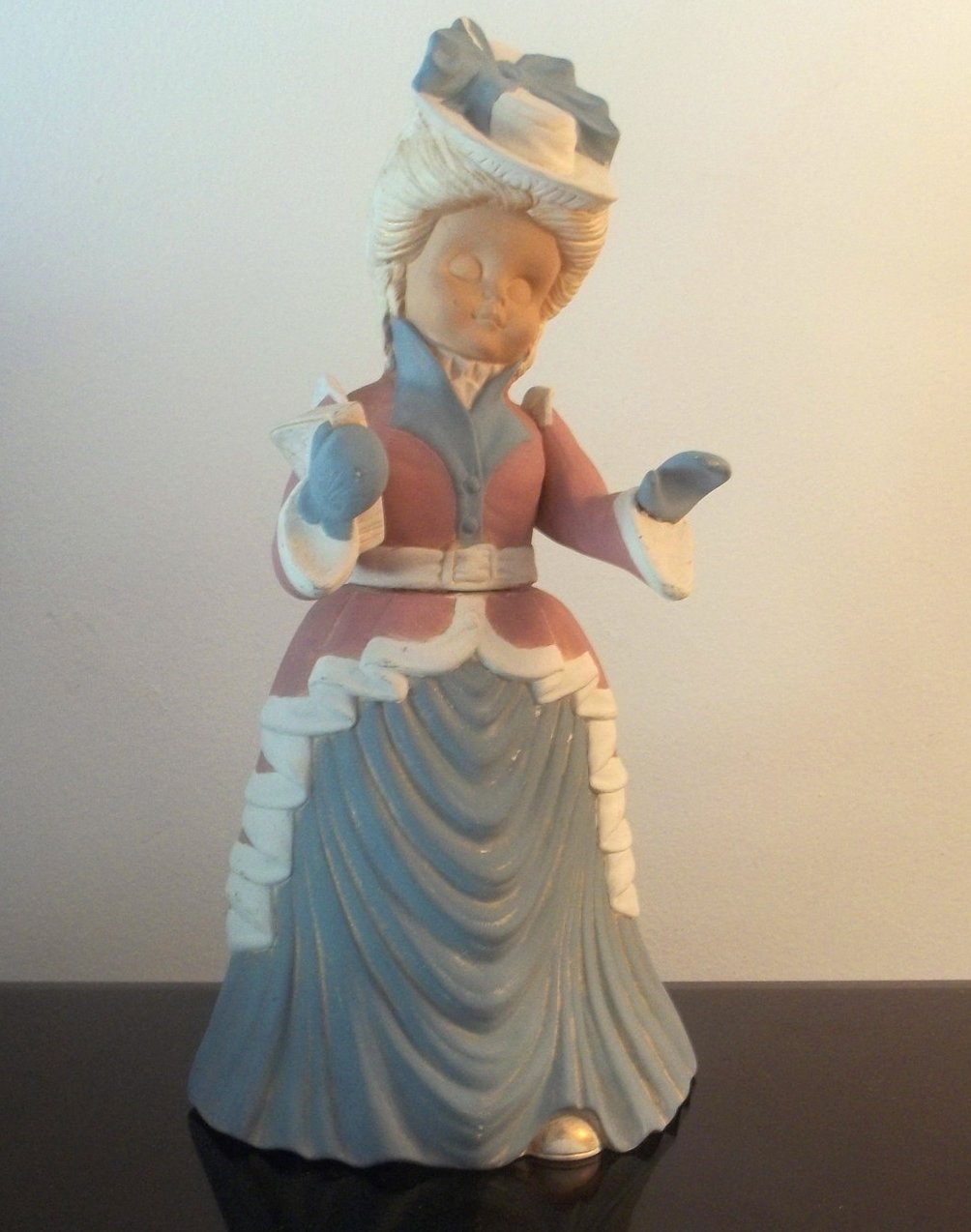 Vintage Christmas Caroler Woman Carol 14 inches Bisque Sugarplum Collection