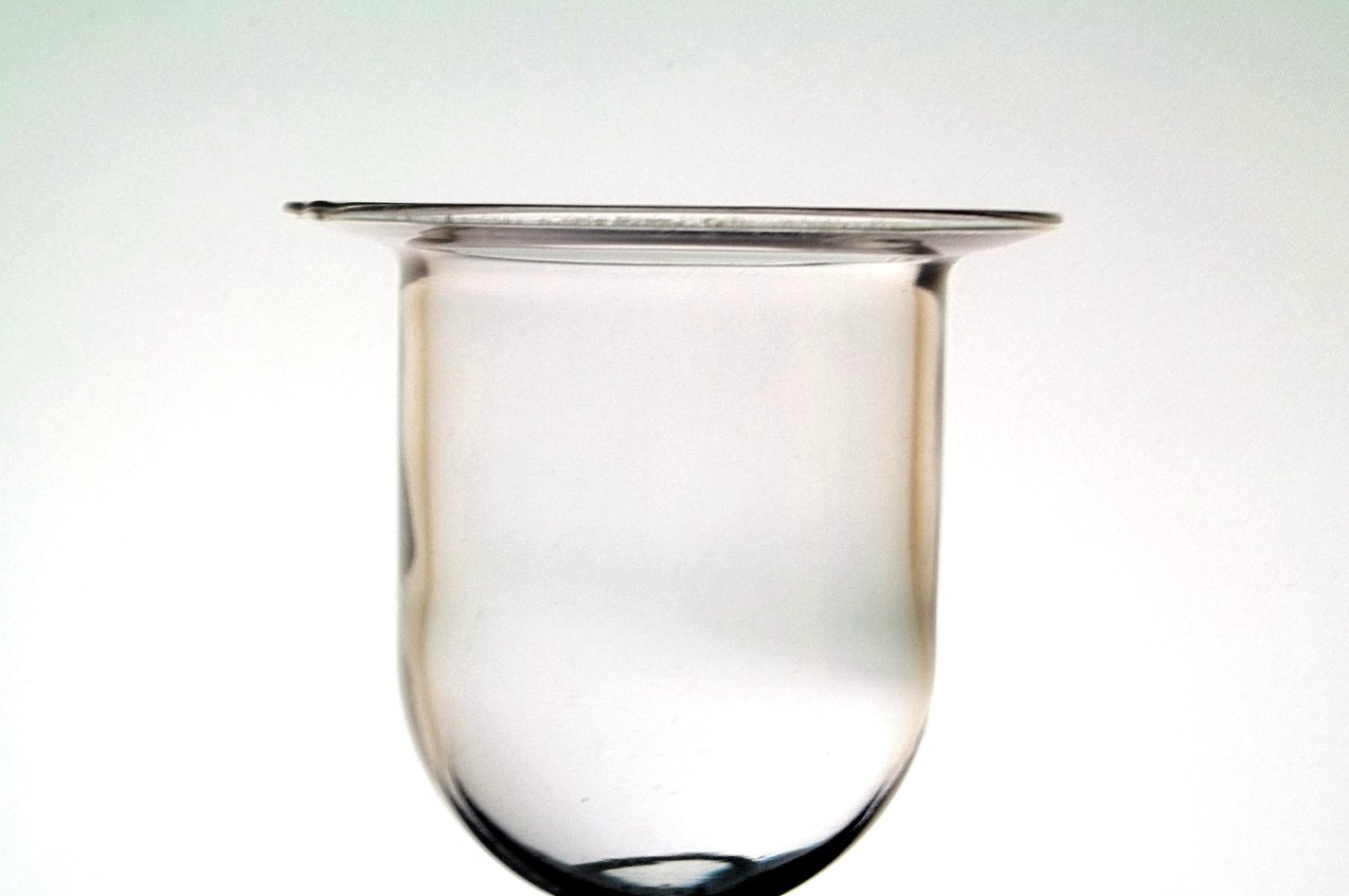 hanging candle holder cup flat wide rim 4 x 4 oos