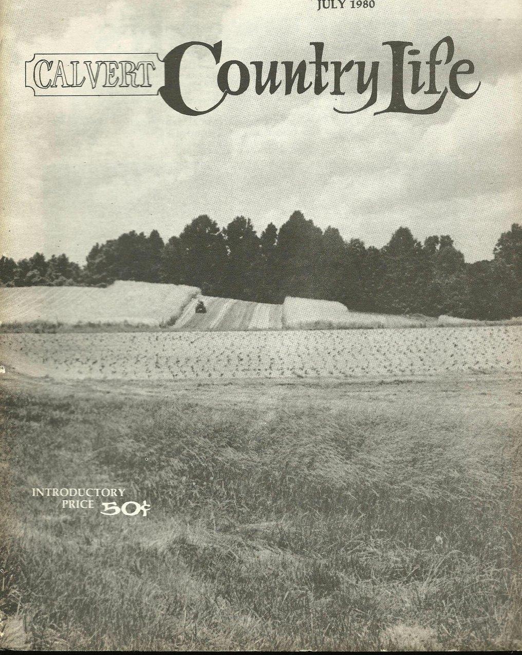 Calvert Country Life Vol 1 No 2 July 1980 Vintage Magazine