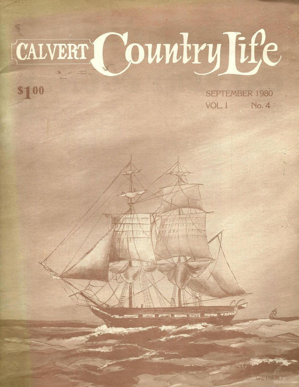 Calvert Country Life Vol 1 No 4 September 1980 Vintage Magazine