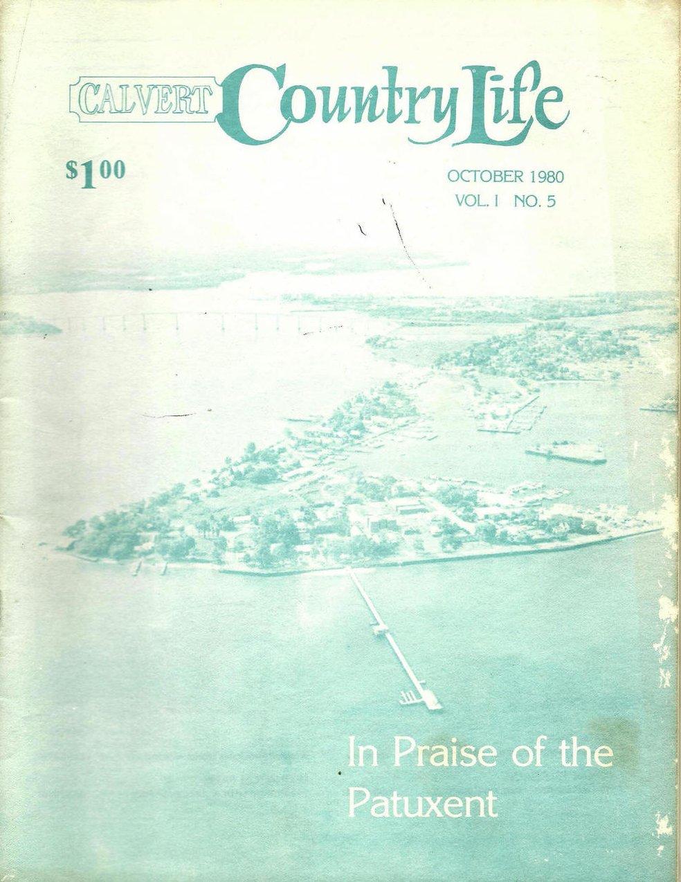 Calvert Country Life Vol 1 No 5 October 1980 Vintage Magazine