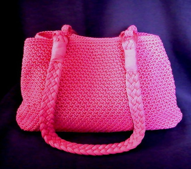Image 0 of THE SAK Hand Bag Crochet Purse Shoulder Bag Hot Pink Double ...