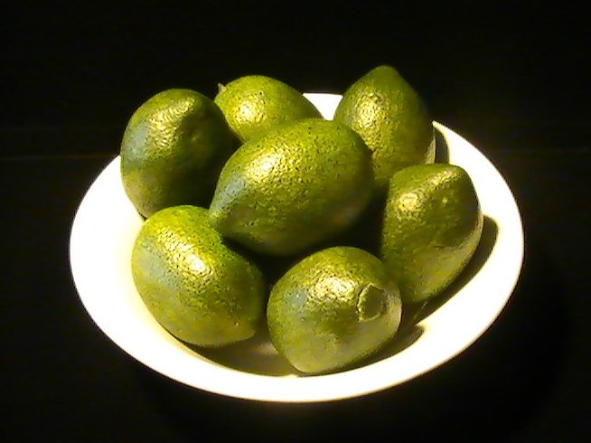 Artificial Limes Lot of 8 Nice Spring and Summer Table Decor Green