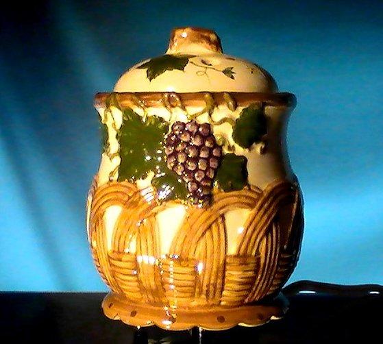 Ceramic Electric Potpourri Pot Grapes and Basket Room Fragrancer